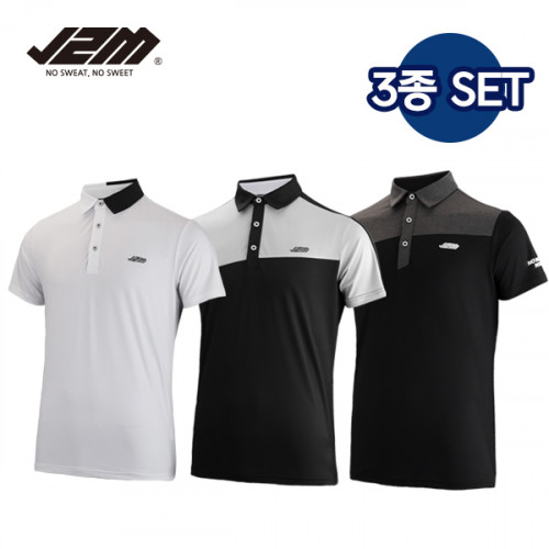 J2M 썸머젠틀맨 프리미어 골프 반팔티셔츠 3종세트