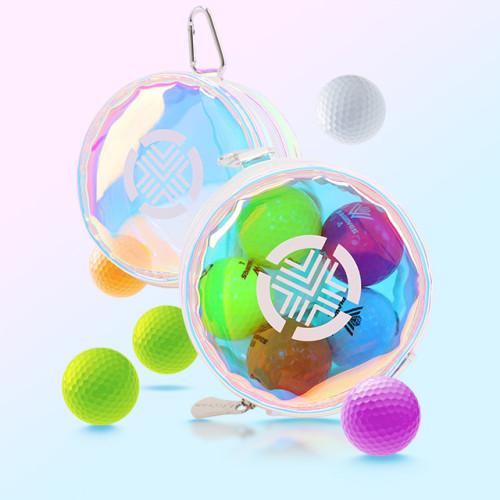 테크스킨 퓨어 홀로그램 골프볼 파우치 / 볼주머니 (014026001000000032)