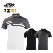 제이투엠골프 썸머 퍼팩트맨 반팔티셔츠 3종택1