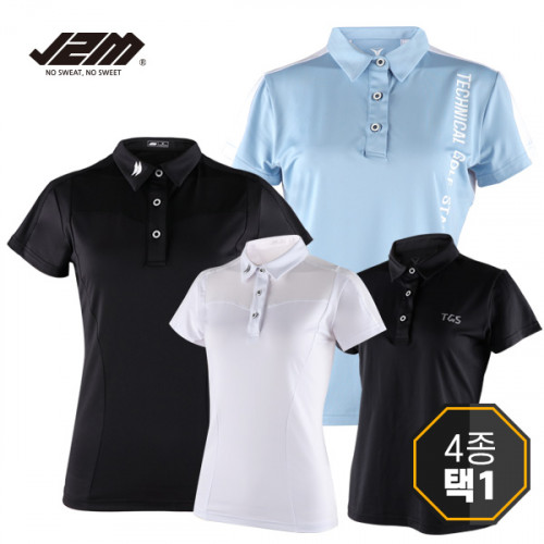 J2M 스페셜 메쉬 시스루 여성반팔티셔츠 4종택1